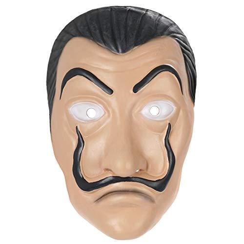 Haus des Geldes Kostüm Dali Maske aus Latex