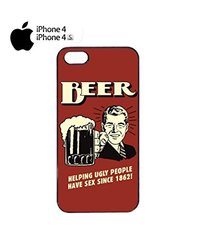 Beer Helping Ugly People Sex Vintage Retro Cool Funny Hipster Swag Mobile Phone Case Back Cover Hülle Weiß Schwarz iPhone 5&5s Black Schwarz