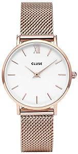 Cluse Reloj Analógico Automático para Mujer con Correa de Acero Inoxidable – CL30013 de Cluse