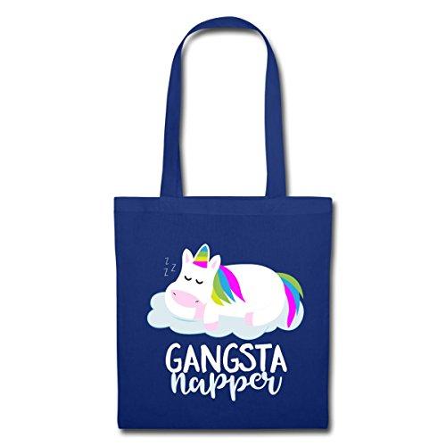 Spreadshirt Sleeping Unicorn Gangsta Napper In Tessuto Blu Royal