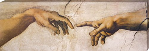 1art1 60429 Michelangelo Buonarroti - Die Erschaffung Adams, Detail, 1508-1512 Poster Leinwandbild...