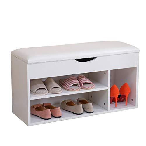 pt, Teng Peng Range-Chaussures Pratique Range-Chaussures Meuble de Rangement Armoire Tour Meuble de Rangement Design Design canapé Tabouret Range-Chaussures (Couleur : Blanc)