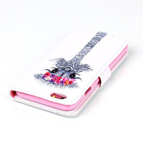 Voguecase® für Apple iPhone 4 4G 4S, Kunstleder Tasche PU Schutzhülle Tasche Leder Brieftasche Hülle Case Cover (My Phone 02) + Gratis Universal Eingabestift Strauß