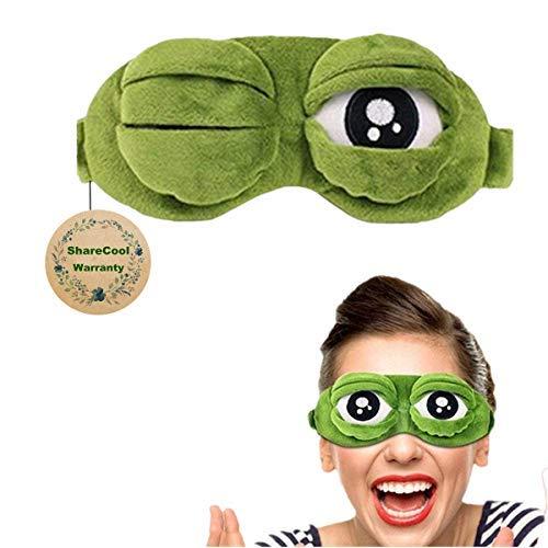 Flusen-Schlaf-Augen-Maske Lustige Karikatur-Frosch-Augen-Maske Nette Schlaf-Eyeshade ()
