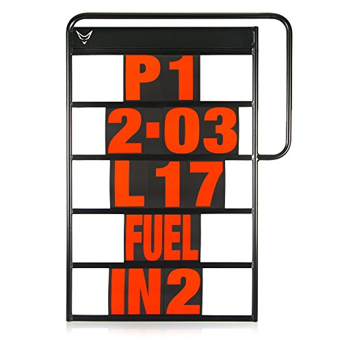 Pitboard, Boxentafel, Infotafel, klein, Set mit 37 Karten, rot, RACEFOXX