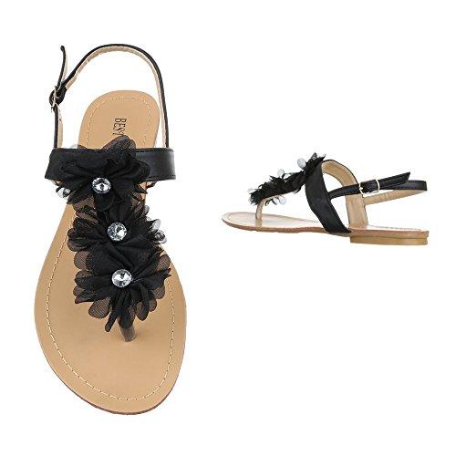 Peep Sandali Da Scarpe Ital Blocco Donna Punta Sandali Separatore Tallone design Fibbia toe Nero Cinturino RIxqgxwO