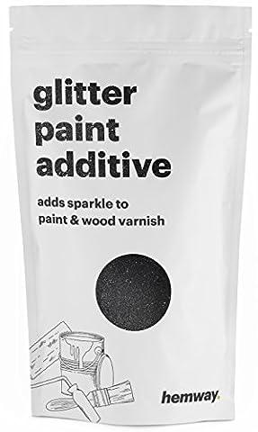 Hemway Black Glitter Paint Additive 100g / 3.5oz for Acrylic