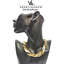 Venetiaurum - Collana donna in vetro di Murano e argento 925 - Gioiello made in Italy certificato