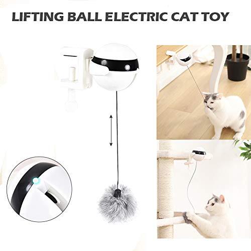 Gorgeousy Katzenspielzeug Interaktive LED-Lichtkugel, Jo-Jo-Hebekugel Elektrische Automatische Selbstdrehende Spielzeug Puzzle Haustier Spielzeug