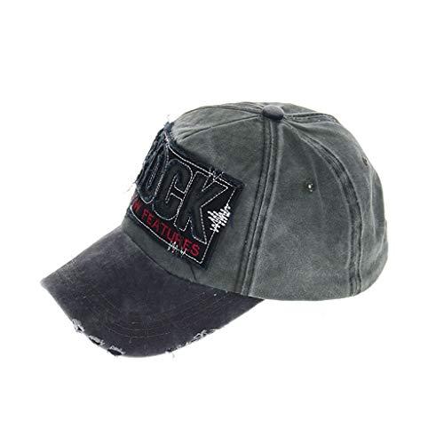 Happily Gorras Beisbol para Hombre Mujer Talla única Casquillo Bordado de Verano Sombreros Rock para Casuales Sombreros Hip Hop Gorras de béisbol Negro