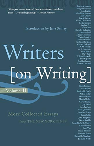 Writers on Writing, Volume II: More Collected Essays from The New York Times: 2 (Writers on Writing (Times Books Paperback))