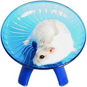 Toruiwa Hamster Spielzeuge Hamster Laufrad Kleintiere Fliegende Untertasse mit Halter für Hamster Kleintiere