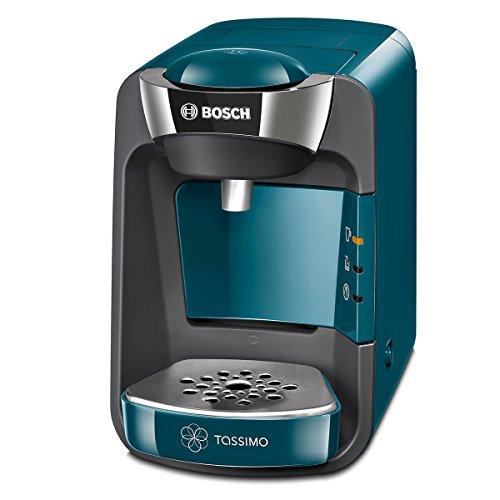 Bosch Tassimo Suny TAS3205 - Cafetera multibebidas automática de cápsulas con sistema SmartStart, color azul pacífico