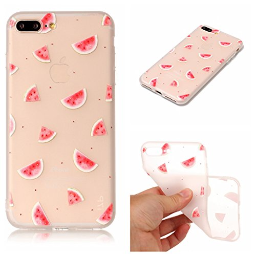 Cover iPhone 7 Plus, Voguecase Custodia Silicone Morbido Flessibile TPU Custodia Case Cover Protettivo Skin Caso Per Apple iPhone 7 Plus 5.5(Macchia-Anguria 06) Con Stilo Penna Macchia-Anguria 06