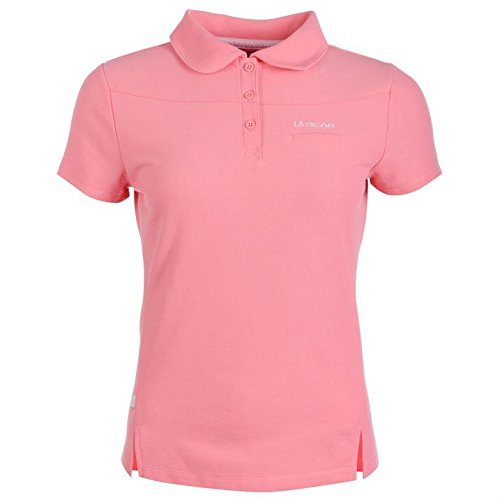 la-gear-womens-ladies-pique-polo-t-shirt-short-sleeve-button-fastening-tee-top-pink-14-l