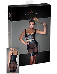 Noir Handmade Sexy Dessous Mädchen Kurz Wetlook Top mit Bügel-Cups, x-large
