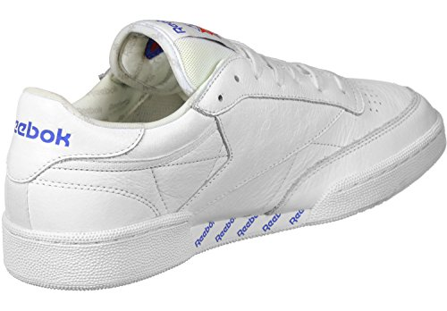 Reebok Club C 85 So, Chaussures de Running Homme multicolore (White / Lgh Solid Grey / Vital Blue / Prml Red)