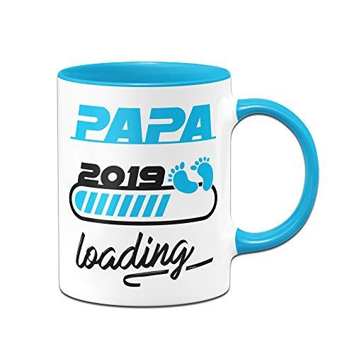 Tassenbrennerei Tasse Papa Loading 2019 - Geschenk für werdende Väter - Schwangere Frauen wie Mama Loading (Blau - Junge)