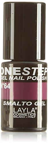 Layla Cosmetics-One Step Gel Smalto, Nasty., 1er Pack (1x 5ml)