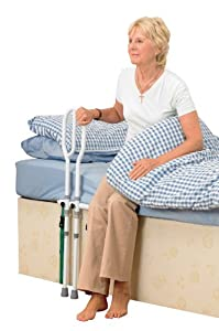 Homecraft Bed Grab Rail, Eligible for VAT Relief in the UK, Secure Height Adjustable Rail, Help Getting In and Out of Bed, Stability Aid, For Eldery, Disabled, Handicapped, Divan Bed Grab Handle