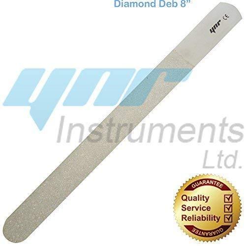 ynr debris de diamant soin des pieds et debris de diamant Lime à ongles - acier, haut produit de qualité - Argent, Diamond Deb 8\