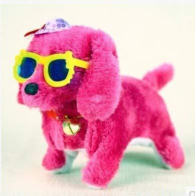 TKHCOLDM Kleid mit Brille Plüschtier Hund, Wird hell genannt, vorwärts rückwärts, Hundespielzeug - Brille mit Hut Hund, rückwärts Hund