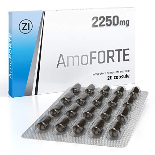 Amoforte 2250 mg - Per l'uomo - Performance migliorata - Massima durata - Effetto immediato - 100% naturale ed efficace