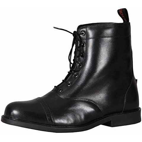 Lace Up Barouque Tuffrider hombres con cordones botas Paddock, negro Negro negro Talla:8