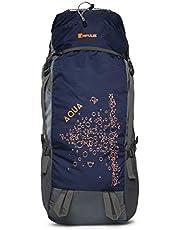 Impulse Waterproof Travelling Trekking Hiking Camping Bag Backpack Series 65 litres Blue Aqua Rucksack
