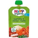 Hipp Biologique Végétale Et Poulet Risotto 7 + Mois 130G - Lot De 2