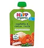 Hipp Bio-Gemüse Und Hähnchen-Risotto 7+ Monate 130G - Packung mit 2