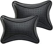 Auto Hub Car Neck Rest Pillow, Car Cushion for All Cars - Pack of 2 (Black)