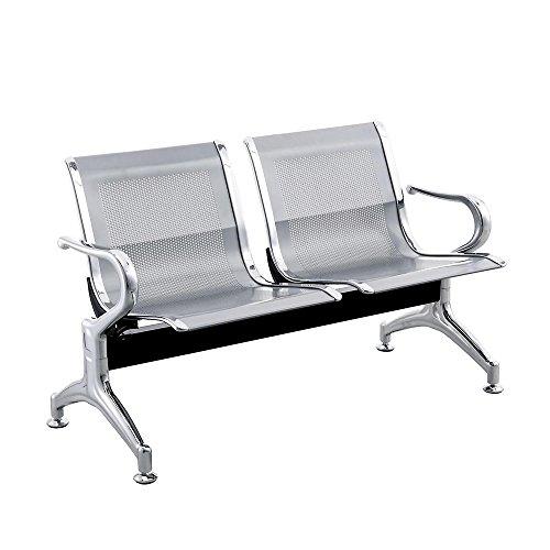 Cablematic-Chaises-sur-poutre-pour-salle-dattente-avec-2-siges-ergonomique-dargent