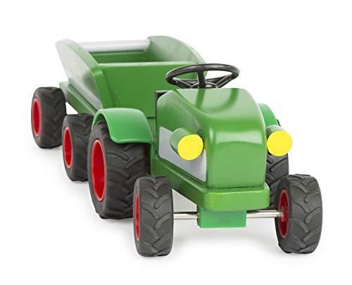 Woodfriends Traktor Trecker  mit Anhänger Holz Bauernhof Fahrzeuge