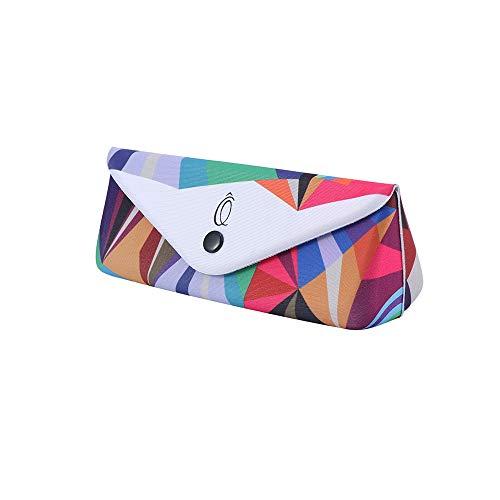 YUEKAIHU 1 Stück Gläser Box Sonnenbrille Fall Faltbrille Aufbewahrungskoffer Schutz Unisex Druckknopf Gläser Container Box