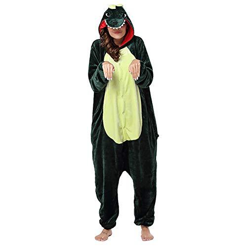 AIPM Erwachsene Unisex Onesie Tier Schlafanzug Cosplay Pyjamas Halloween Karneval Kostüm Loungewear,S