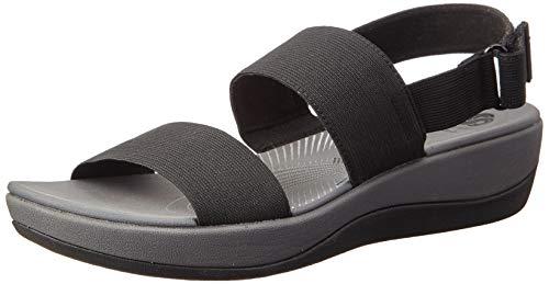 Clarks Damen Arla Jacory Slingback Sandalen, Schwarz (Black), 39 EU (Clarks Canvas Schuhe Damen)