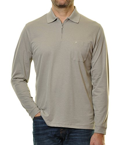RAGMAN Herren Poloshirt Easy Care Steingrau-020