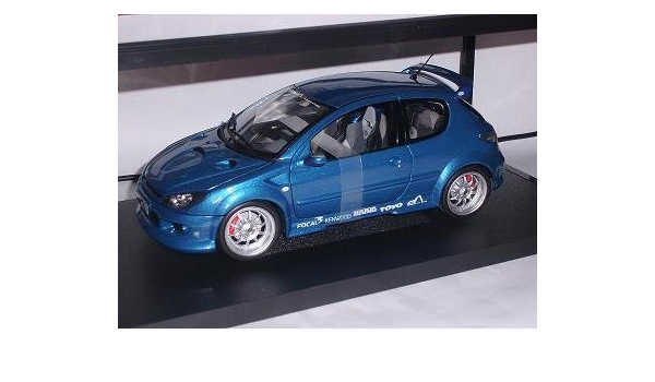 Peugeot 206 Blue Street Racer Tuning 1 18 Norev Modell Auto Sport Freizeit