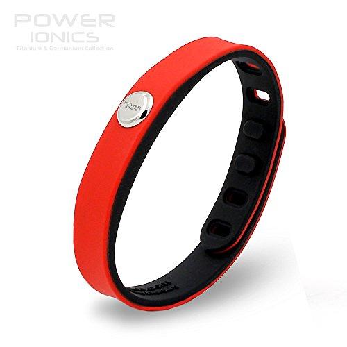 Power Ionics Bracelet Armband Powerarmband PowerIonics Ionenarmband Energie Wristband Magnet Armband 3000 Ions Smart Sports Bracelet Wristband PT066 (red/black)
