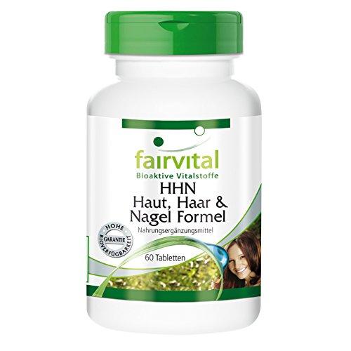 HHN Haut, Haar u. Nagel Formel - HOCHDOSIERT - 60 Tabletten - 23 wertvolle Inhaltsstoffe -