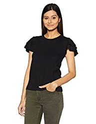 United Colors of Benetton Womens Body Blouse Shirt (17A3096E9543I_Black_S)