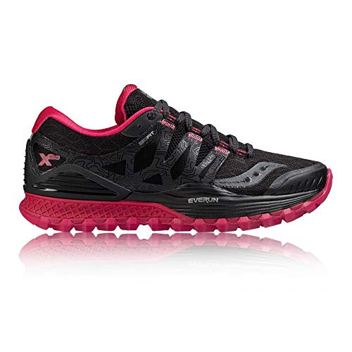 Saucony Women Xodus Iso Trail Running Shoe Running Shoes Black - Red 4,5