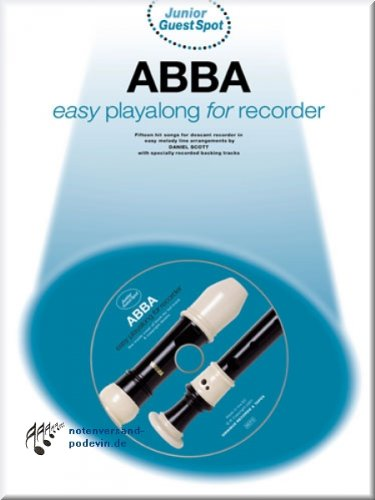 Abba - Easy Playalong - Sopranblockflöte Noten [Musiknoten]