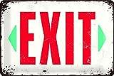 Nostalgic-Art 22218 Achtung - Exit | Retro Blechschild | Vintage-Schild | Wand-Dekoration | Metall |...