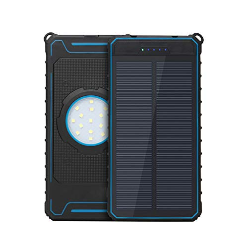 Solar Charger 20000mAh Tragbares Ladegerät wasserdichte Energienbank Dual USB 2.1A Port Ladegerät Akku für iPhone, iPad, iPod, Samsung, Android-Handys, USB-Ladegerät und mehr