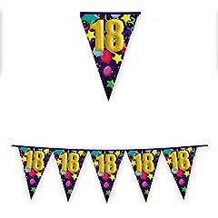 Idea Regalo - BiG Party Festone Band. in plastica 18 Anni Crazy mt.6