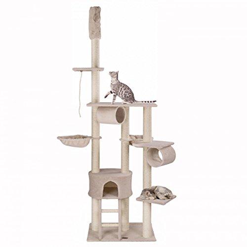 Happypet Kratzbaum CAT005 Deckenhoch Höhenverstellbar ca. 230-250 cm Beige