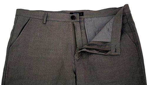 MLP010 PERANO Herren Leinen Hose Slim Fit. hell braun-fango