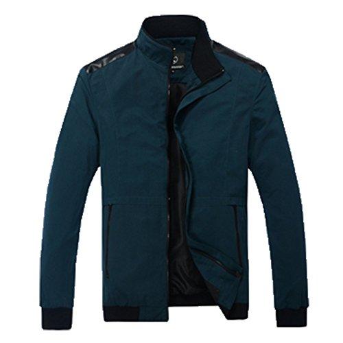 OHmais homme parka manteau d'hiver veste fourré Bleu